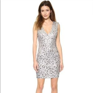 Alice & Oliver silver sequin dress.  New with tags